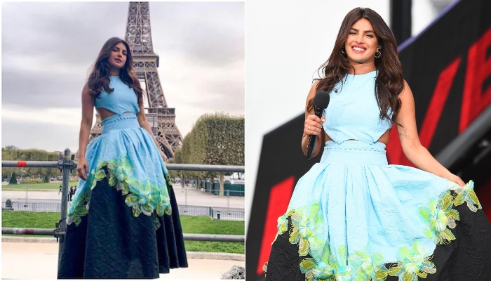 Priyanka Chopra stuns in earth-themed blue dress at Global Citizen live event