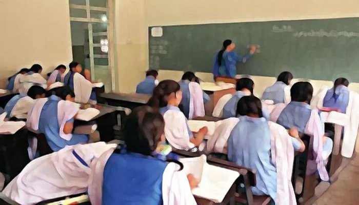 Students noting lecture during a class. — Geo News