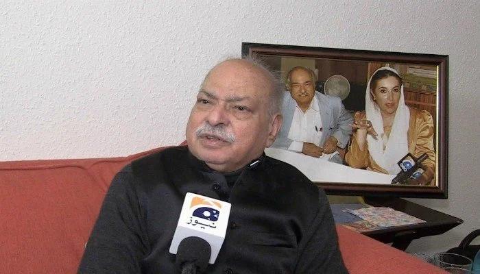 PPP leader Wajid Shamsul Hasan speaks to Geo News. — Geo.tv