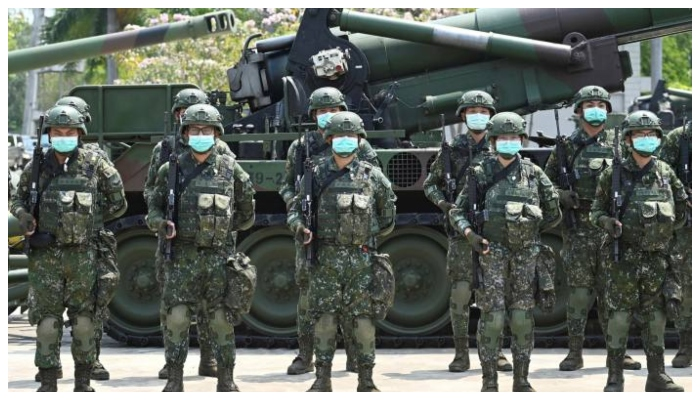 Taiwanese troops. Photo: AFP