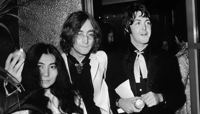 John Lennon [M] remembered by Paul McCartney [R], Yoko Ono [L] on 81st birthday