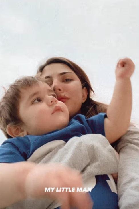 Naimal Khawar Khan poses for adorable thread of photos with baby Mustafa