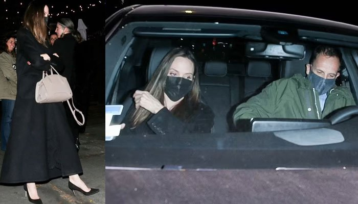 Angelina Jolie looks stunning as she steps out with her ex-husband Jonny Lee Miller
