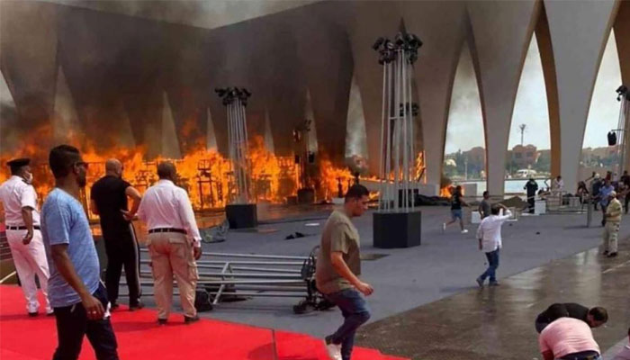 Fire hits Egypt film festival, a day before opening