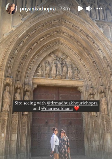 Priyanka Chopra walks in style, shares a glimpse of her Spain diaries in new pic