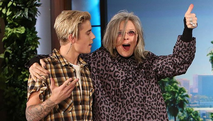 Diane Keaton reminisces over experiences working with Justin Bieber on 'Ghost' MV