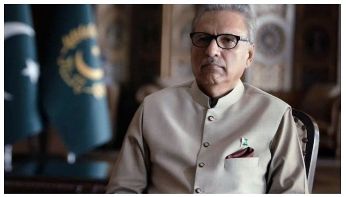 President Arif Alvi. — Screengrab from interview with Vice News