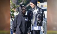Kourtney Kardashian And Travis Barker All Smiles During Their First Outing After Engagement