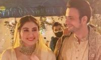Usman Mukhtar, Zunaira Inam Glow In Mayoun Outfits Ahead Of Wedding