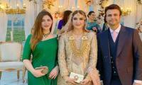 Naimal Khawar Khan Stuns In Green At Usman Mukhtar's Wedding