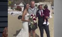 Tom Hanks surprises couple during their seaside wedding in Santa Monica